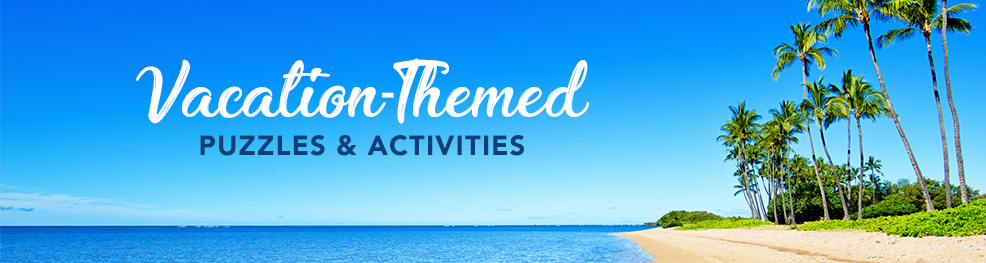 Vacation Puzzles and Activities Banner